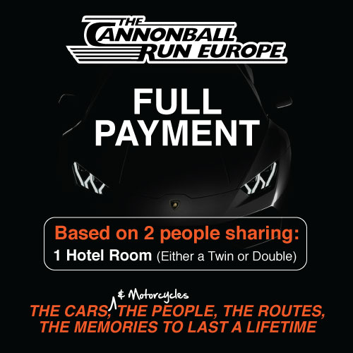 Entry To The 2021 Cannonball Run Europe